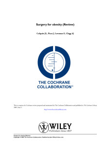 Surgery for obesity - The Cochraine Collaboration
