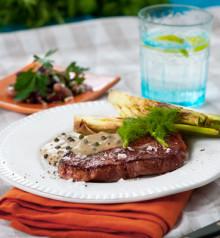 Itrim-recept: Grönpepparbiff med grillad fänkål