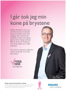 Philips lanserer den Rosa Testen i kampen mot brystkreft.