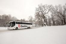Swebus lanserar 272 extra avgångar och snabbturer i jul