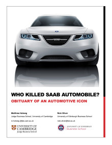 Who killed Saab Automobile?