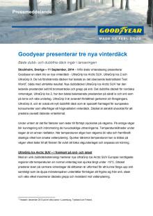 Goodyear presenterar tre nya vinterdäck