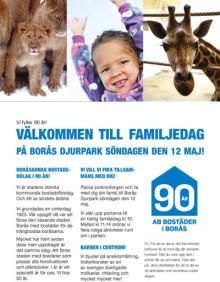 Vi fyller år - Välkommen till familjedag på Borås Djurpark söndagen den 12 maj!