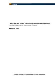 Best Practice bland kommuners bredbandsengagemang