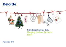 Deloitten joulukauppatutkimus 2013: Euroopan joulukauppa odottavalla kannalla – parempia hintoja etsitään verkosta