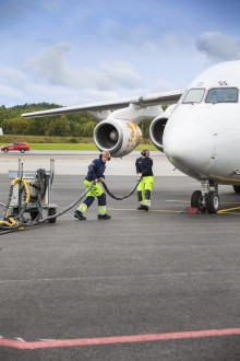 Rekordmånga resenärer på Bromma i april