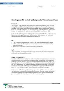 Handlingsplan trycksår Sahlgrenska Universitetssjukhuset 2012