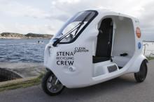 Stena Recycling premiärkör nytt elfordon på Marstrand