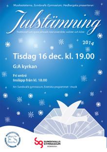 Musikesteterna bjuder på riktig Julstämning i G:A-kyrkan