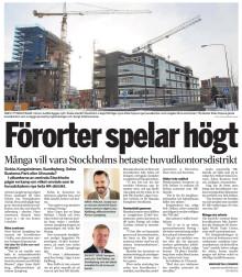 Nextports VD i Dagens Industri om heta HK-distrikt i Stockholm