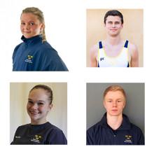 Fyra gymnaster tilldelas elitstipendium från Riksidrottsförbundet