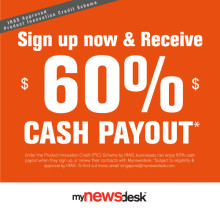 Sign up with Mynewsdesk and receive 60% cash payout (Singapore)