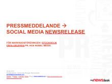 Fem utmaningar i att skriva och kommunicera en social media newsrelease