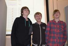 Klass 8 D Minervaskolan vann Teknikåttans regionfinal