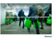Svenskarnas syn på energiproduktion