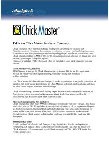 Chick Master är ett av världens ledande företag inom utrustning till kläckeri- och fjäderfäbranschen