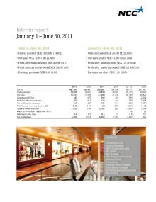 Interim Report for the period January 1 – June 30, 2011