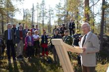 Kungen invigde ekoparkerna Varjisån och Piteälven!