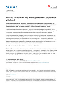 Verisec Modernizes Key Management in Cooperation with Point