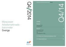 Manpower Arbetsmarknadsbarometer kvartal 4 2014