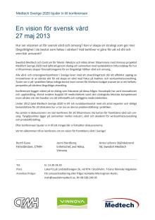Program En vision för svensk vård, 27 maj 2013