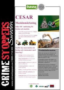 CESAR - Datatag Produktblad
