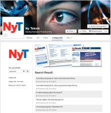 Rekryteringssajten Ny Teknik Jobb lanserar jobbsök på Facebook