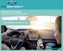 """Ford inviterer til live webinar """"Keep Europe Moving"""" onsdag den 7. januar kl 11.00"""