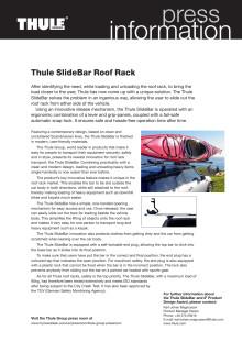 Information om Thules unika takräcke - Thule SlideBar som vunnit iF Product Design Award