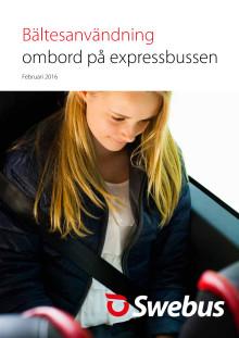 Bältesanvändning ombord på expressbussen 2016