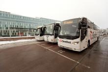 Trafikrapport från Swebus: Expressbussarna hittills opåverkade av stormen Alexander