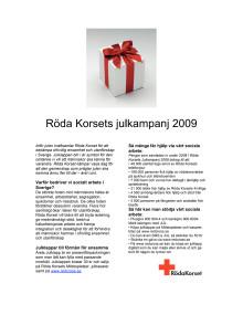Info om Röda Korsets julkampanj 2009