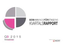 Bemanningsföretagens Kvartalsrapport Q3 2015