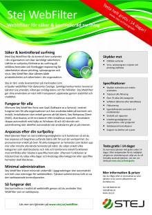 Informationsblad webbfiltrering: Stej WebFilter