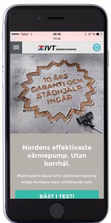 IVT Värmepumpar prisas för bästa mobila webbplats