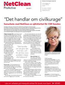 Nyhetsbrev Q4: CSR Sweden i samarbete med NetClean
