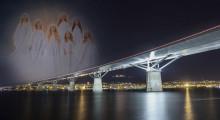 Världens mäktigaste luciatåg på Sveriges längsta motorvägsbro