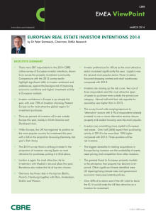European Real Estate Investors Survey 2014