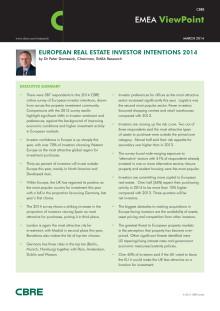 European Real Estate Investors Survey 2014