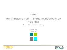 Opinionsundersökning: Allmänheten om den framtida finansieringen av välfärden