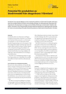 Fakta i korthet: Potential för produktion av biodrivmedel från skogsråvara i Värmland