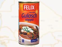 Felix skänker mat till svenska FN-soldater