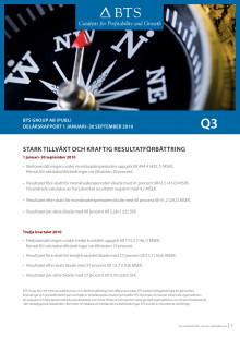 BTS Group AB (publ) Delårsrapport 1 januari–30 september 2010