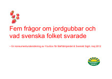 Fem frågor om jordgubbar och vad svenska folket svarade