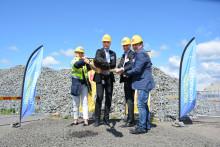 Första spadtaget för ny logistikanläggning på Landvetter