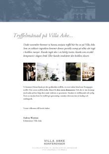 Tryffel i november på Villa Aske Konferenser