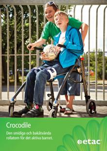 Produktblad rollator Crocodile för barn och ungdomar