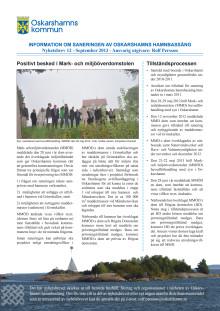 Nyhetsbrev 12 - Sanering av Oskarshamns hamnbassäng