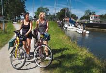 Cykelturismen längs Göta kanal växer