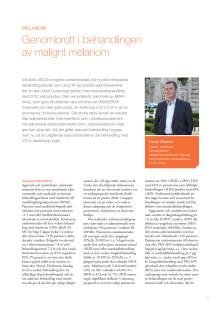 Överläkare Gunnar Wagenius – Genombrott i behandlingen av malignt melanom